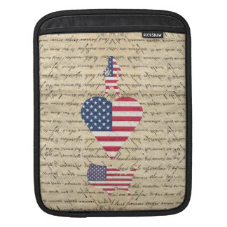 VintageI heart America Sleeve For iPads