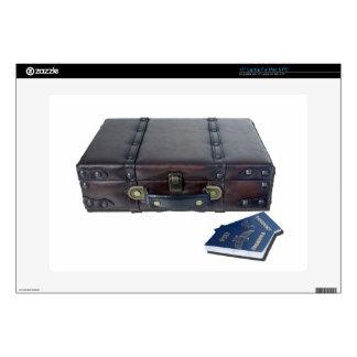 VintageLuggagePassports122814 Laptop Decals
