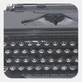 VintageManualTypewriter103013.png Square Sticker
