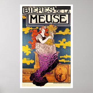Vintager Poster: - Bieres de la Meuse Poster