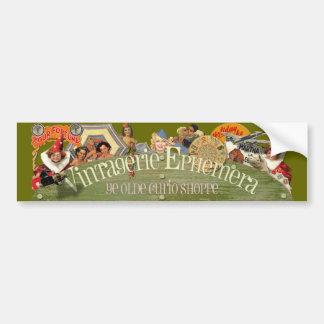 Vintagerie Ephemera Ye Olde Curio Shoppe Bumper Sticker