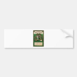 VintageSaint Patrick's day shamrock erin go bragh Bumper Sticker