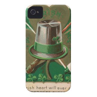 VintageSaint Patrick's day shamrock erin go bragh iPhone 4 Case