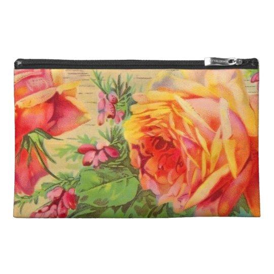 VintageYellow Roses Travel Accessory Bag