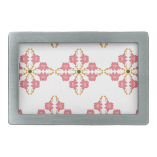 Vintal Floral By Quick Brown Fox Rectangular Belt Buckles