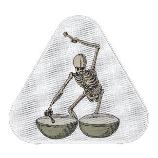 Vintange skeleton playing the death drums, bluetooth speaker