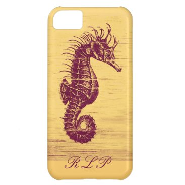 Beach Themed vintgage seahorse iphone 5C case