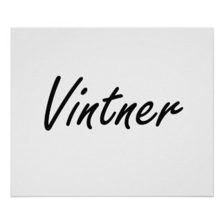 Vintner Artistic Job Design Poster