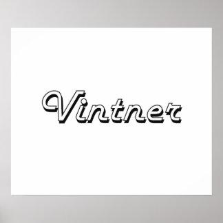 Vintner Classic Job Design Poster