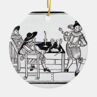 Vintners in a Tudor ale house, from a broadsheet ' Ceramic Ornament