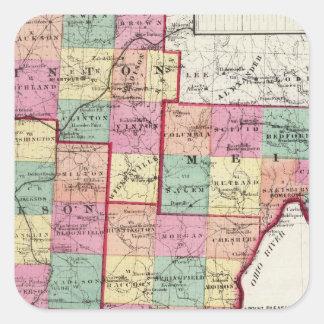 Vinton Counties Square Sticker