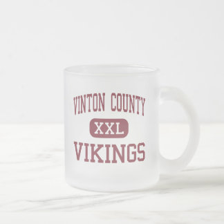 Vinton County - Vikings - Junior - McArthur Ohio Frosted Glass Coffee Mug