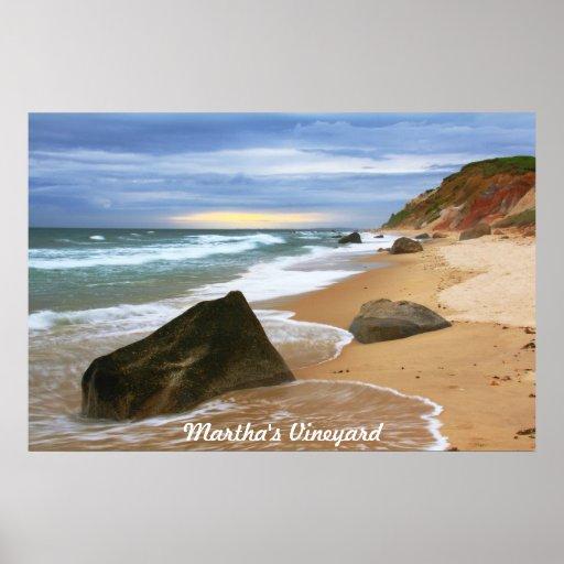 Vinyard de Martha del paisaje marino de la playa d Impresiones
