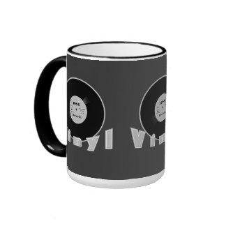 VINYL 1955 Label 33 RPM Record Black & White 2 Ringer Mug
