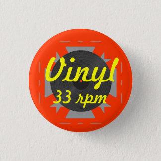 Vinyl 33 rpm button
