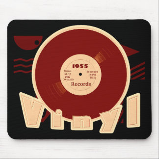 VINYL 33 RPM Record 1955 Label  Style 3 Mouse Pad