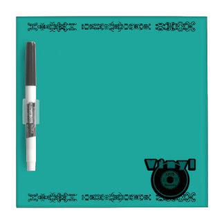 Vinyl 45 Record 1978, Green/Black Dry-Erase Whiteboard