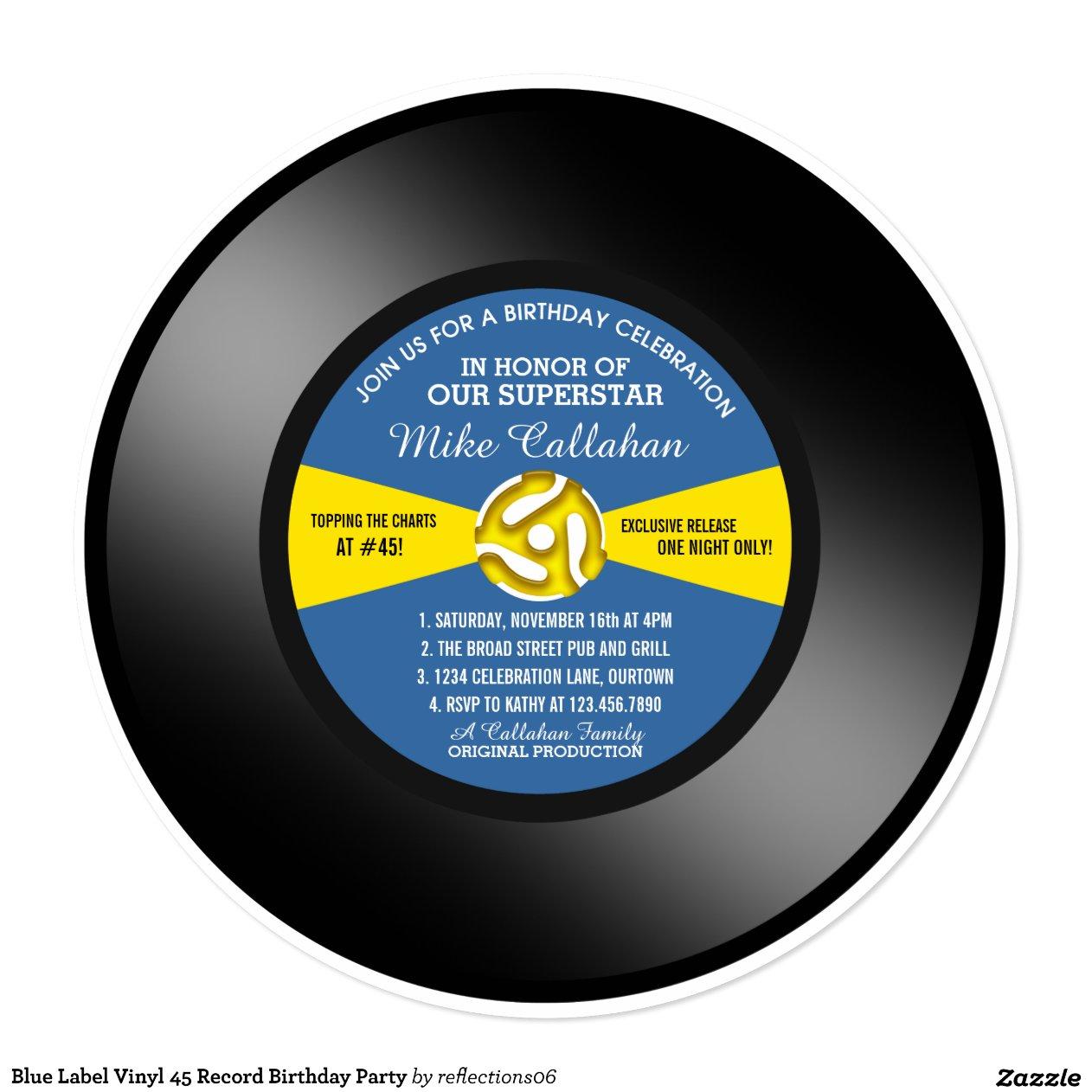 Vinyl Record Invitations is Inspirational Ideas To Make Luxury Invitations Card