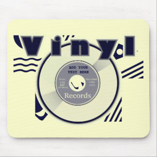 VINYL 45 Record Customize your Own Text/Year 2 Mouse Pad