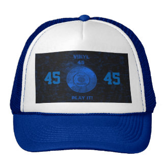 Vinyl 45 RPM Blue Trucker Hat