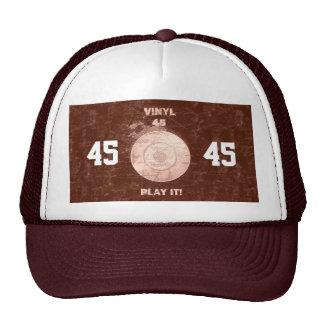 Vinyl 45 RPM Burgundy Trucker Hat