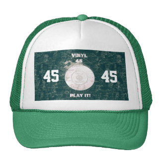 Vinyl 45 RPM Green/Blue Trucker Hat