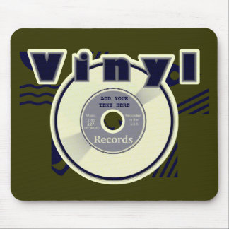 VINYL 45 RPM Record Customize your Own Text/Year Mouse Pad