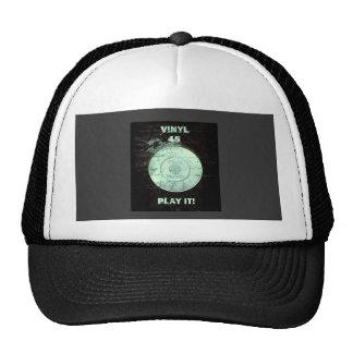 VINYL 45 RPM Record (Green ) Trucker Hat