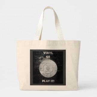 VINYL 45 RPM Record Large Tote Bag