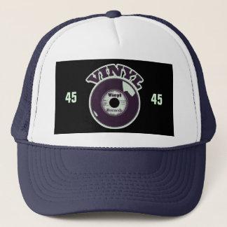 VINYL 45 RPM Record Mint Green Purple Trucker Hat