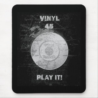 VINYL 45 RPM Record Mouse Pad