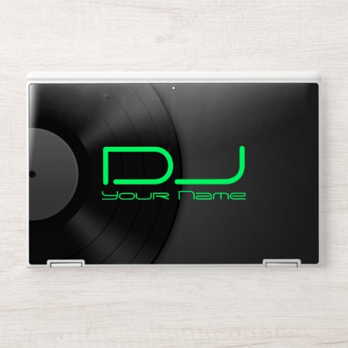 Vinyl Background DJ HP Laptop Skin