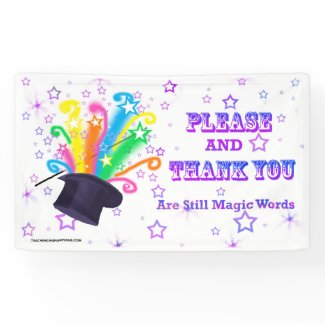 "Vinyl Bulletin Board Banner ""...MAGIC WORDS"""