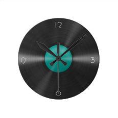 Vinyl Clock-Teal