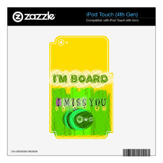 Vinyl Device Protection Skin Decals For iPod Touch 4G