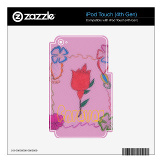 Vinyl Device Protection Skin iPod Touch 4G Decals