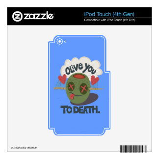 Vinyl Device Protection Skin Skins For iPod Touch 4G