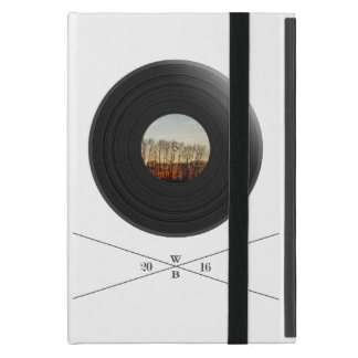 Vinyl/disc imprint with trees on the label iPad mini cover