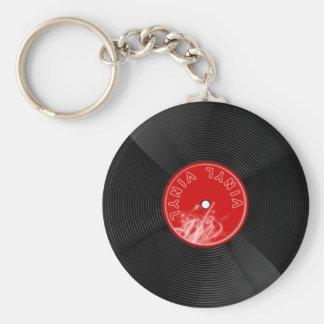 Vinyl disc record keychain