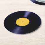 "Vinyl disc retro old times style cover round paper coaster<br><div class=""desc"">Party table drink coasters vinyl graphic cover funny and smooth.</div>"
