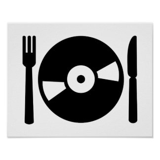 Vinyl DJ menu Poster