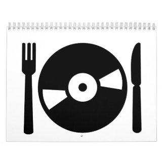 Vinyl DJ menu Wall Calendar