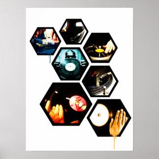 Vinyl Dj Poster