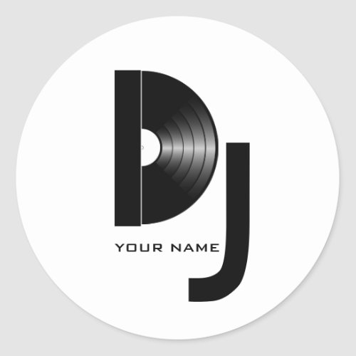 Vinyl DJ Sticker