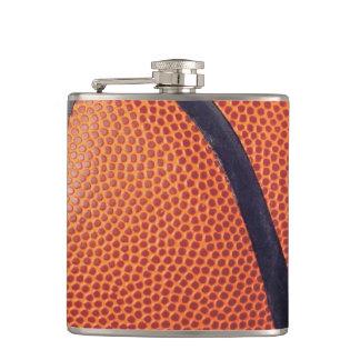Vinyl Flap Flask Basketball Leather