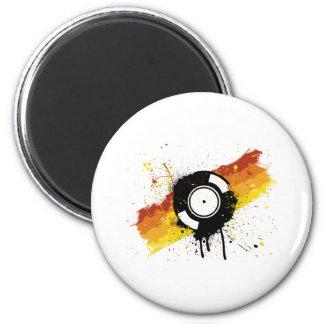 Vinyl Graffiti - DJ record DJing DJs Disc Jockey 2 Inch Round Magnet