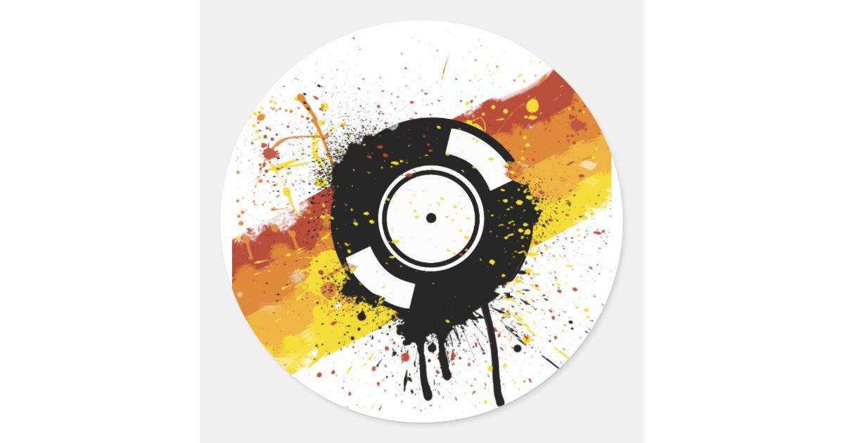 Vinyl Graffiti Dj Record Djing Djs Disc Jockey Classic