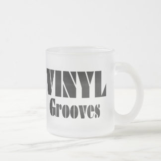 Vinyl Grooves 10 Oz Frosted Glass Coffee Mug