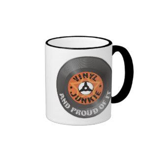 Vinyl Junkie - And Proud of It Ringer Coffee Mug