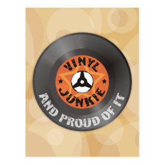 Vinyl Junkie - And Proud of It Post Card